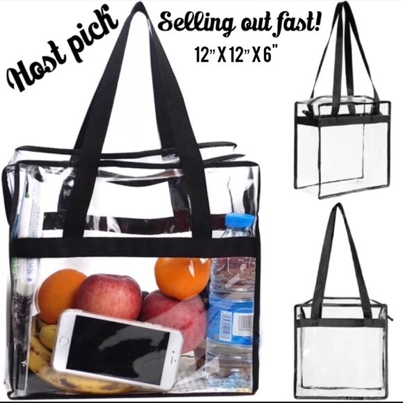 d86c288e5ae1 Boutique Bags | Clear Or Transparent Totehandtadium Approved | Poshmark